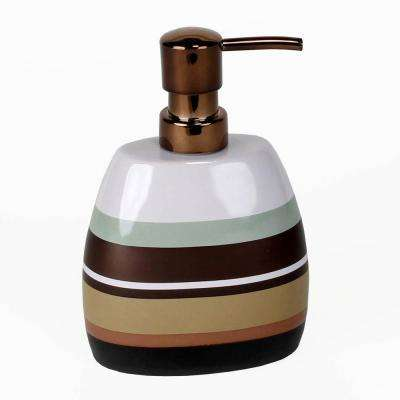 Jessen Stripe Freestanding Lotion Pump in Natural
