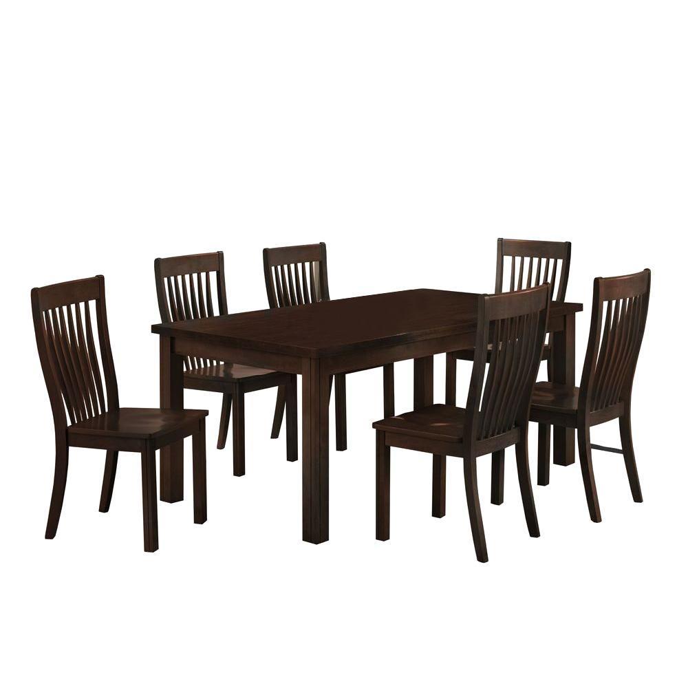 Boraam 7-Piece Cappuccino Grantsville Dining Set-DISCONTINUED