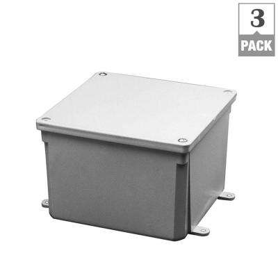 4 in. x 4 in. x 4 in. PVC Junction Box (Case of 3)