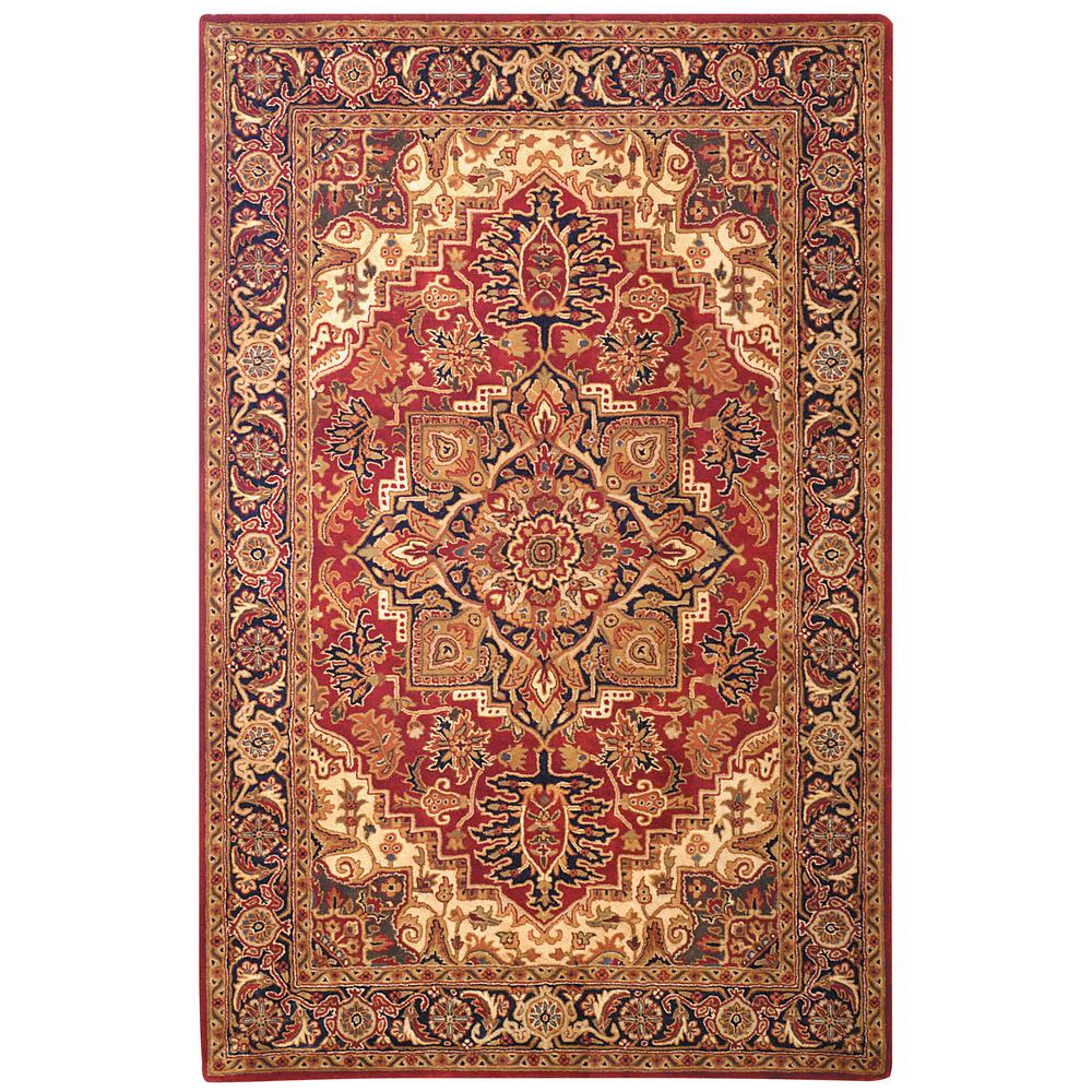 Safavieh classic red navy 8 ft x 11 ft area rug cl763b 9 for Red and navy rug