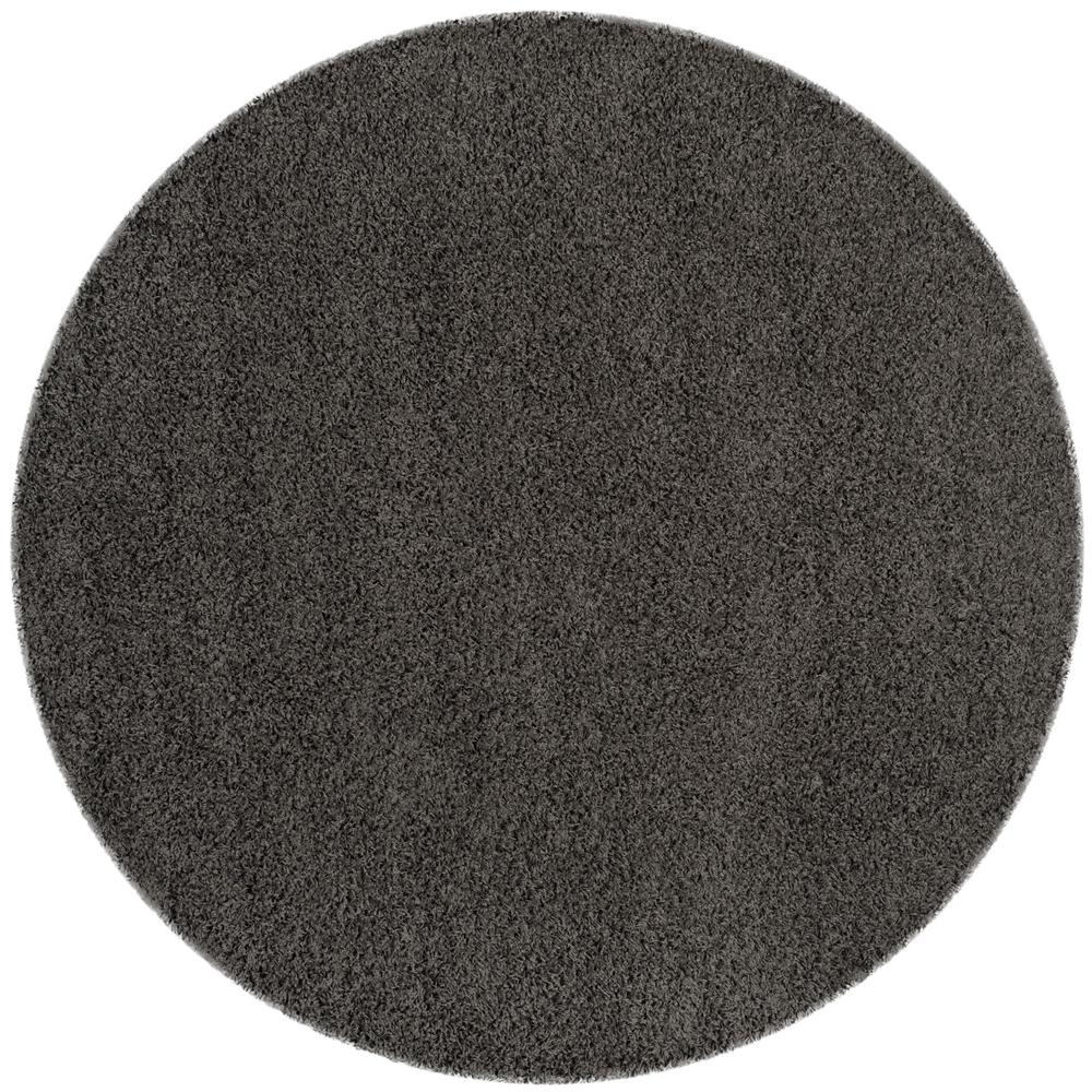 Safavieh Athens Shag Dark Gray 7 ft. x 7 ft. Round Area Rug