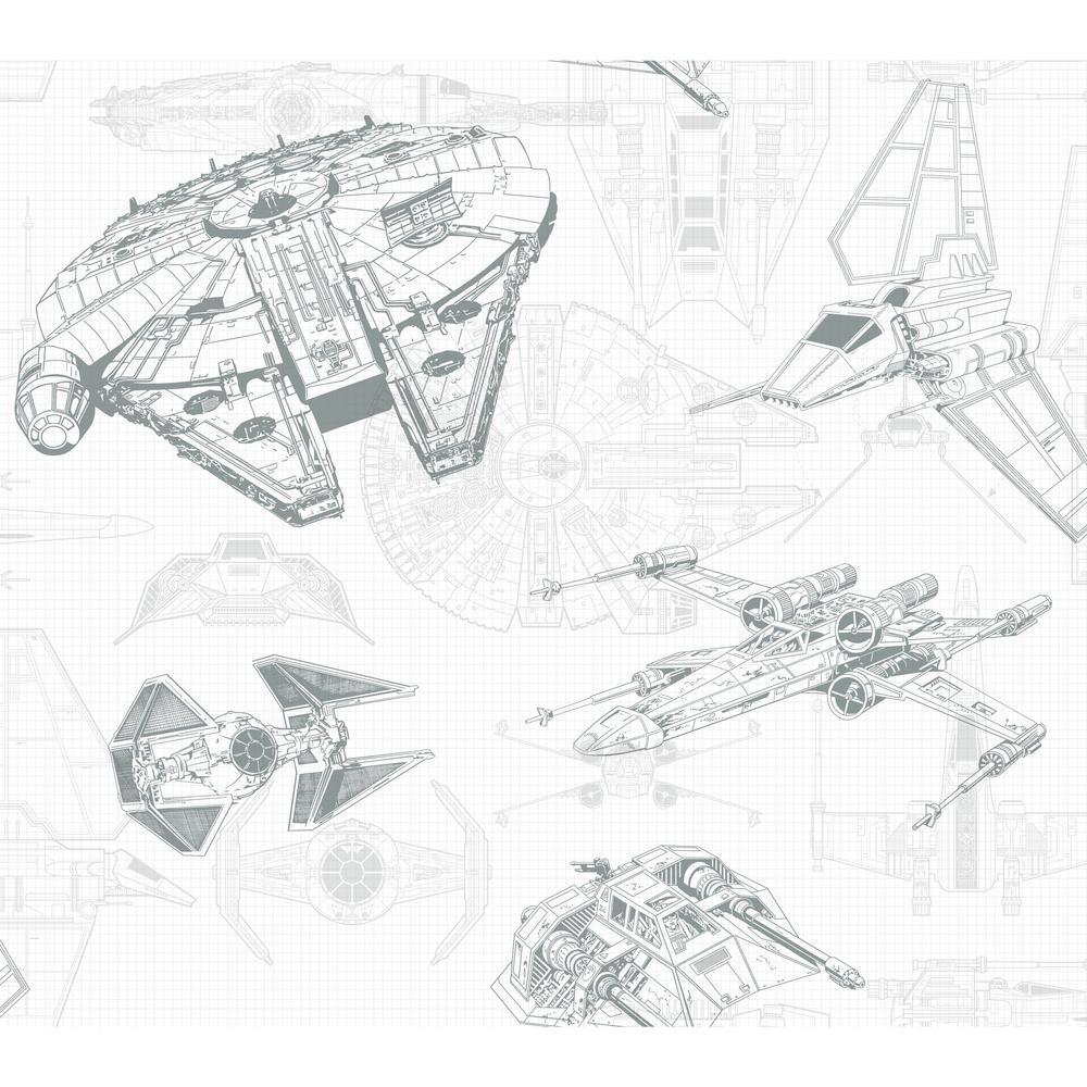 Disney Kids III Star Wars Ship Schematic Wallpaper