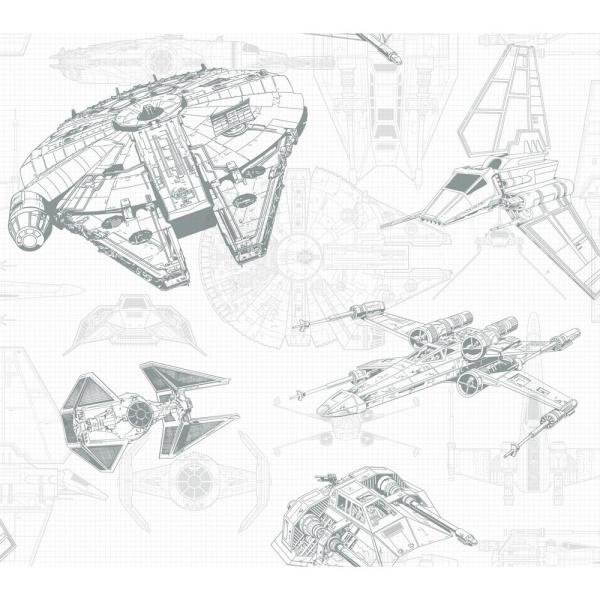 Disney Kids III Star Wars Ship Schematic Wallpaper on
