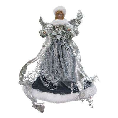 18 in. Silver Angel Christmas Tree Topper