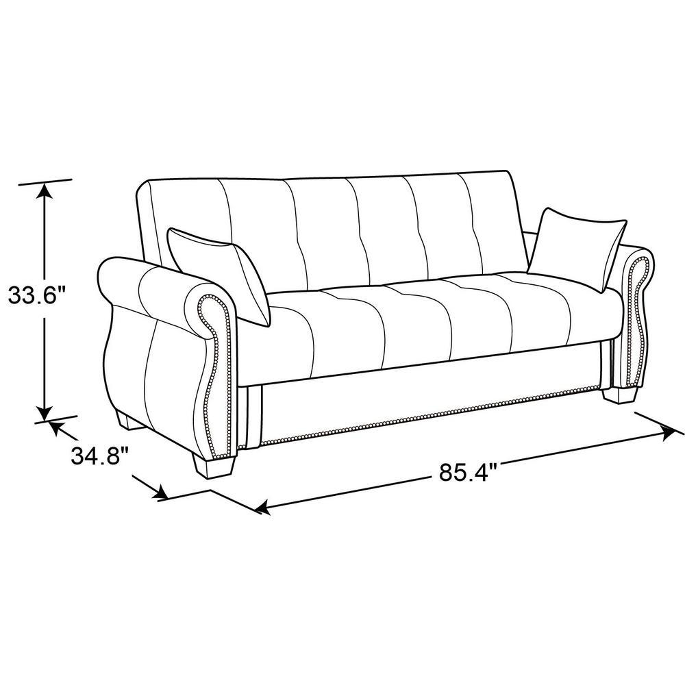 Outstanding Serta Ainsley Java Convertible Sofa Ainsley Convertible Sofa Ncnpc Chair Design For Home Ncnpcorg
