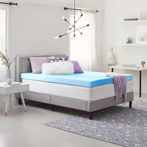 4 in. Gel-Infused Cal-King Size Memory Foam Mattress Topper