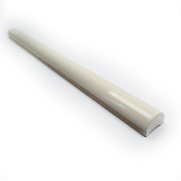 Catalina Vanilla .75 in. x 12 in. Polished Ceramic Wall Pencil Liner