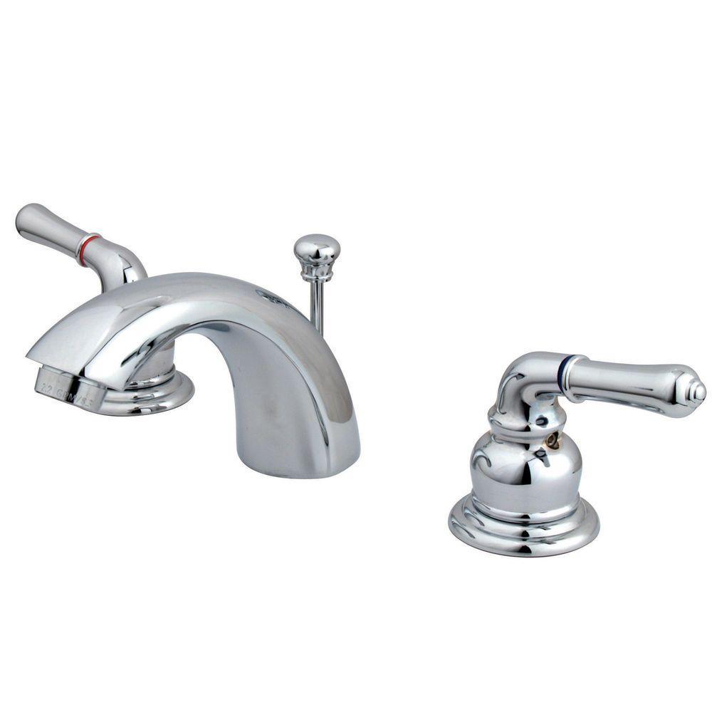 Kingston Brass 4 in. Mini-Widespread 2-Handle Mid-Arc Bathroom ...