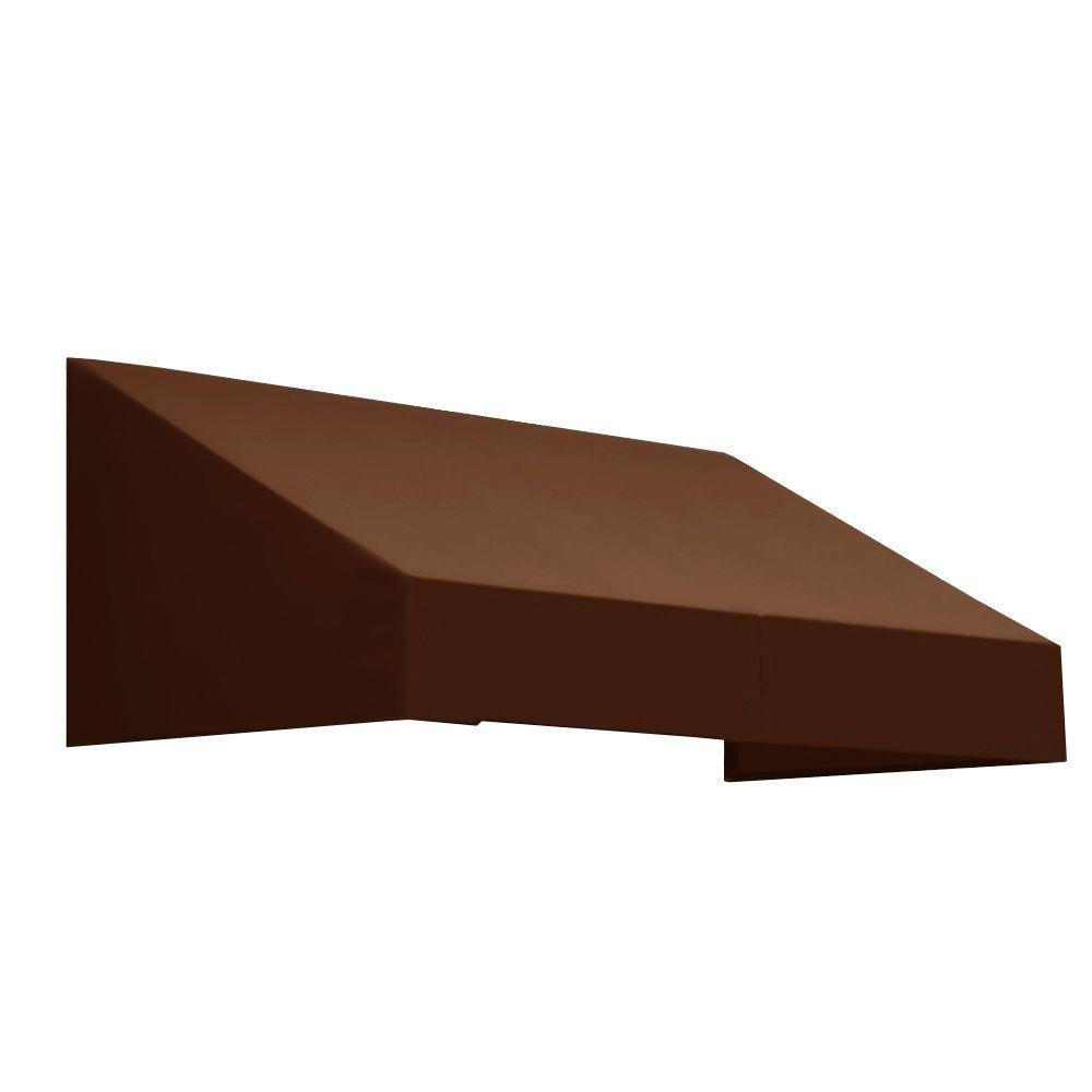 AWNTECH 3 ft. New Yorker Window/Entry Awning (16 in. H x 30 in. D) in Brown