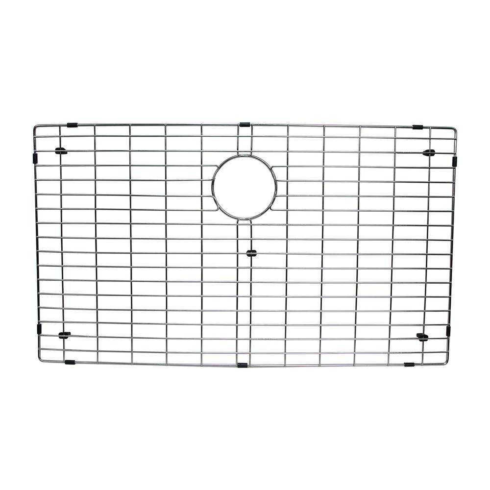 17.8 in. x 30.5 in. Kitchen Sink Bottom Grid in Stainless