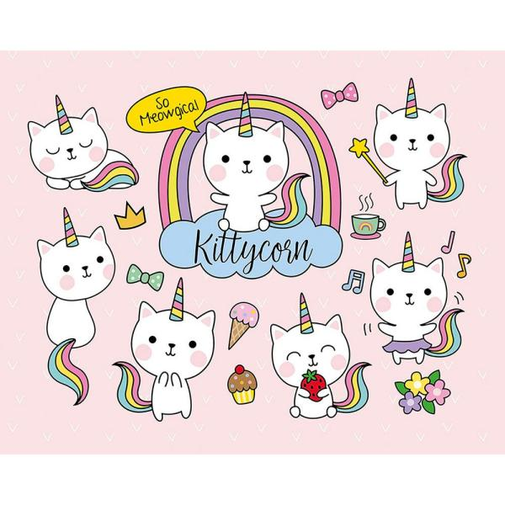 Kittycorn Wall Mural
