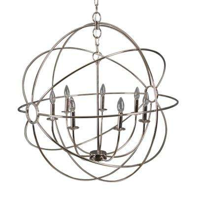 Shooting Star 7-Light Nickel Plated Mini Chandelier