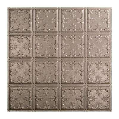 Traditional 10 - 2 ft. x 2 ft. Lay-in Ceiling Tile in Galvanized Steel