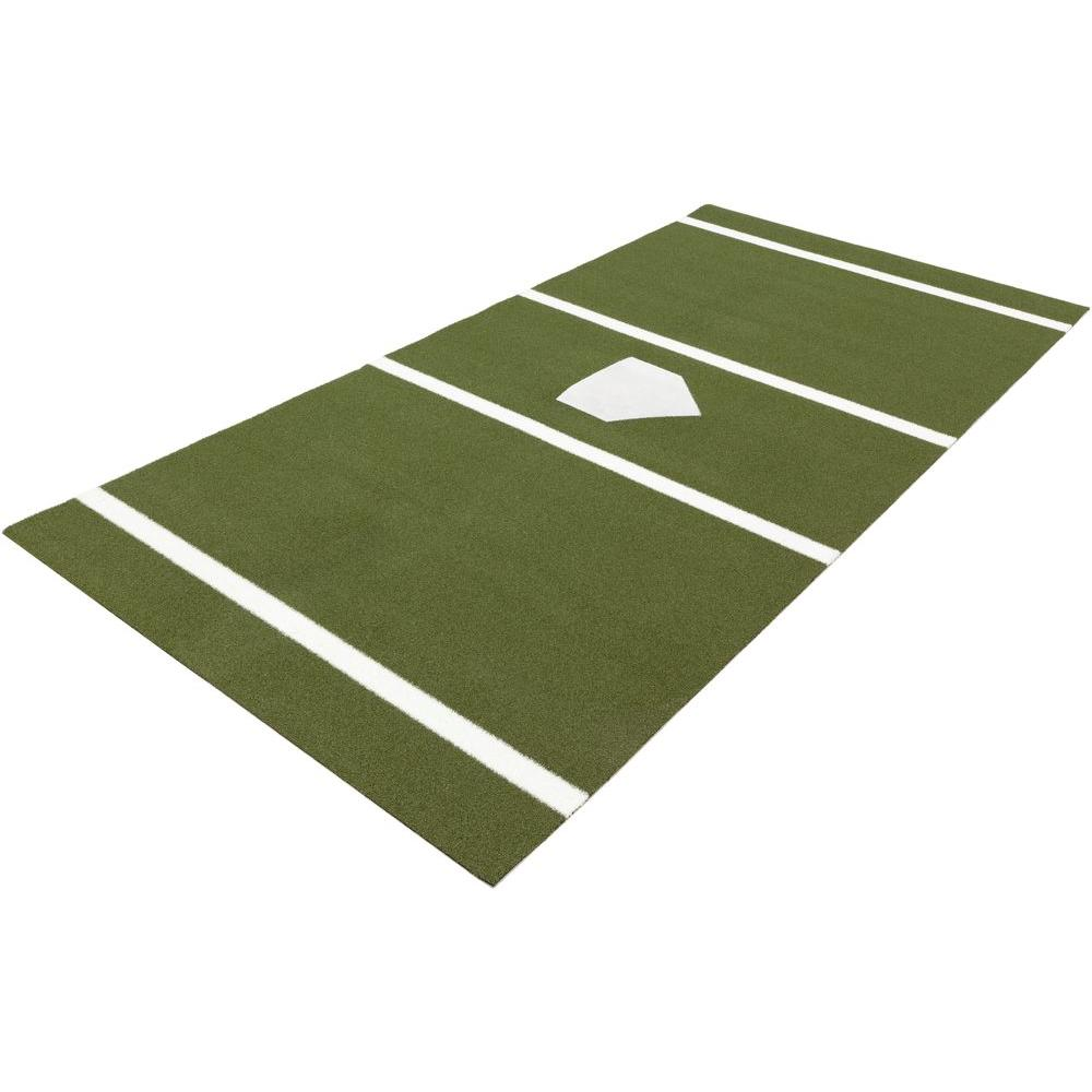 7 ft. x 12 ft. Home Plate Mat in Green for