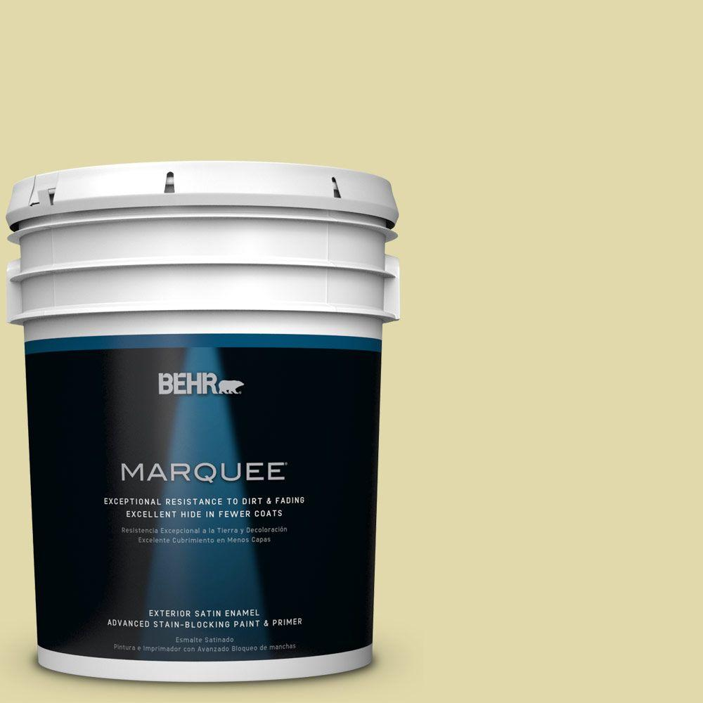 5 gal. #HDC-CT-27A Fresh Willow Satin Enamel Exterior Paint