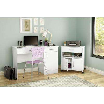 Axess Pure White File Cabinet