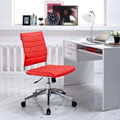 Jive Armless Mid Back Office Chair in Red & Office Chairs - Home Office Furniture - The Home Depot