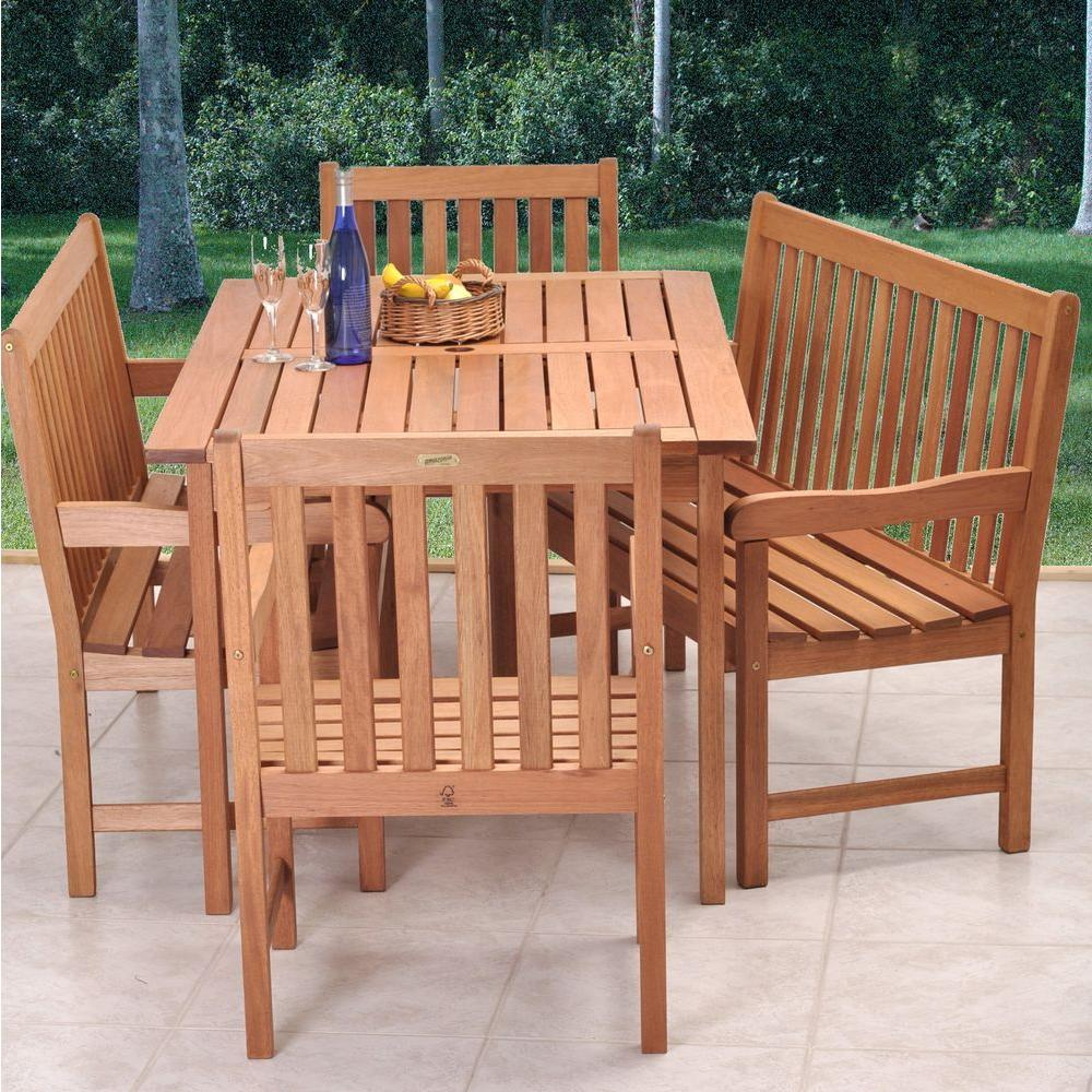 Ia Milano 5 Piece Patio Dining Set