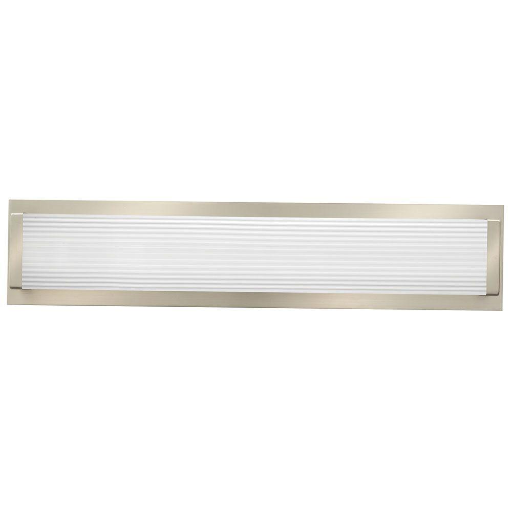 lithonia lighting traditional square 2 light brushed nickel 3k led