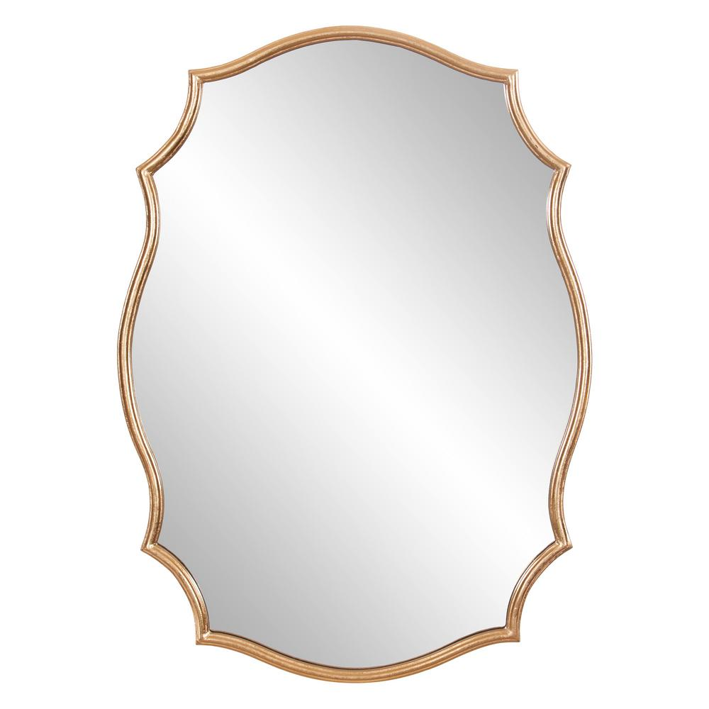 Pinnacle 24 In X 36 In Gold Ornate Wall Accent Mirror 1807 3731 The Home Depot