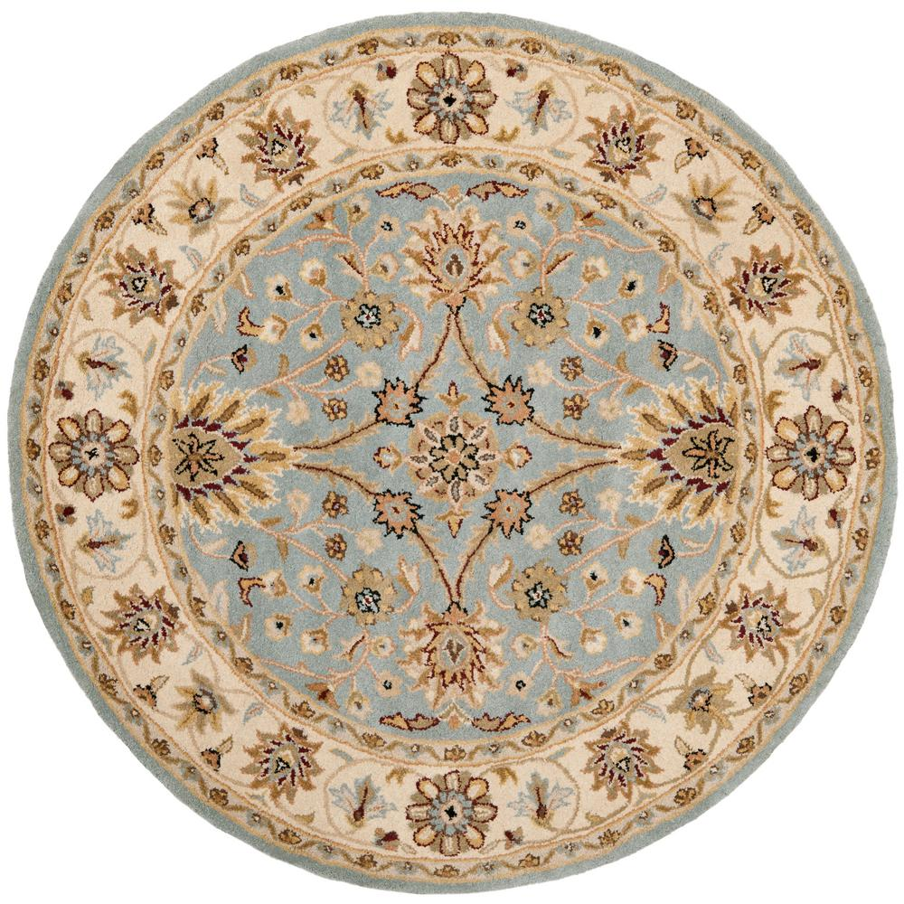 Antiquity Light Blue/Ivory 6 ft. x 6 ft. Round Area Rug