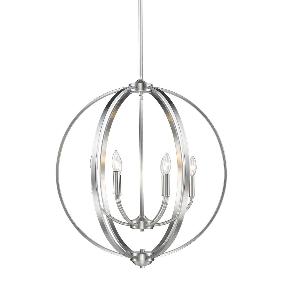 Golden Lighting Colson Pw 6 Light Pewter Chandelier 3167 6 Pw The Home Depot