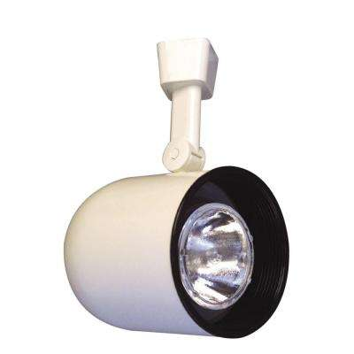 White Body Lazer Small Roundback Cylinder Track Light White Baffle