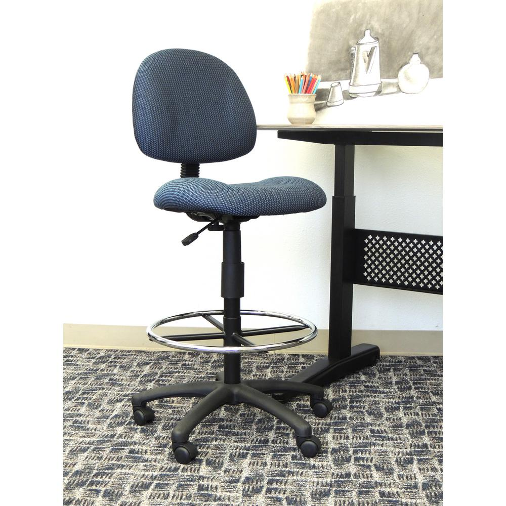 Boss Blue Armless Drafting Stool