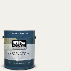 1 gal. Home Decorators Collection #HDC-MD-06 Nano White Satin Enamel Interior Paint & Primer