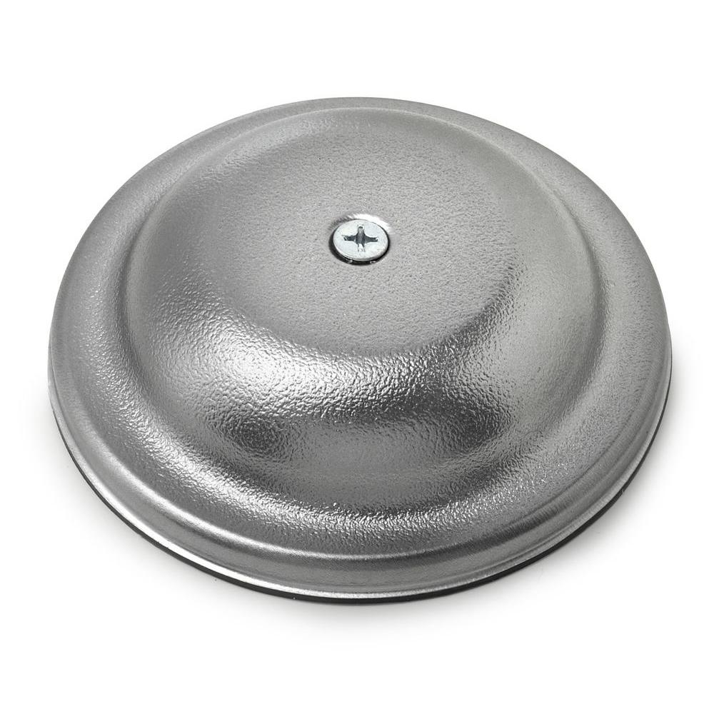 Oatey 5 in. Plastic Bell Cleanout Cover Plate in Chrome