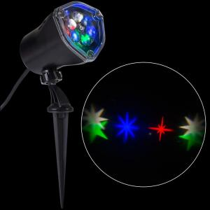 Lightshow Led Projection Whirl A Motion Stars Rgbw Stake