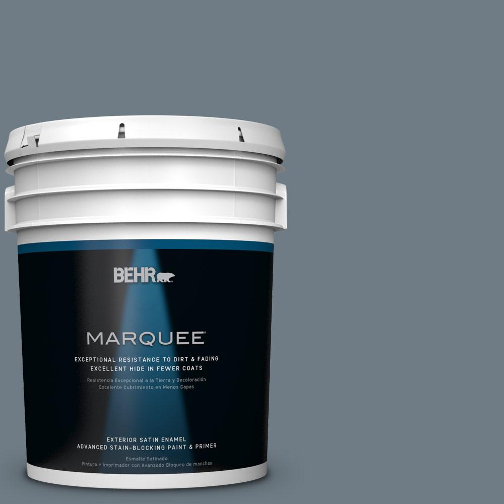 BEHR MARQUEE 5-gal. #N490-5 Charcoal Blue Satin Enamel Exterior Paint