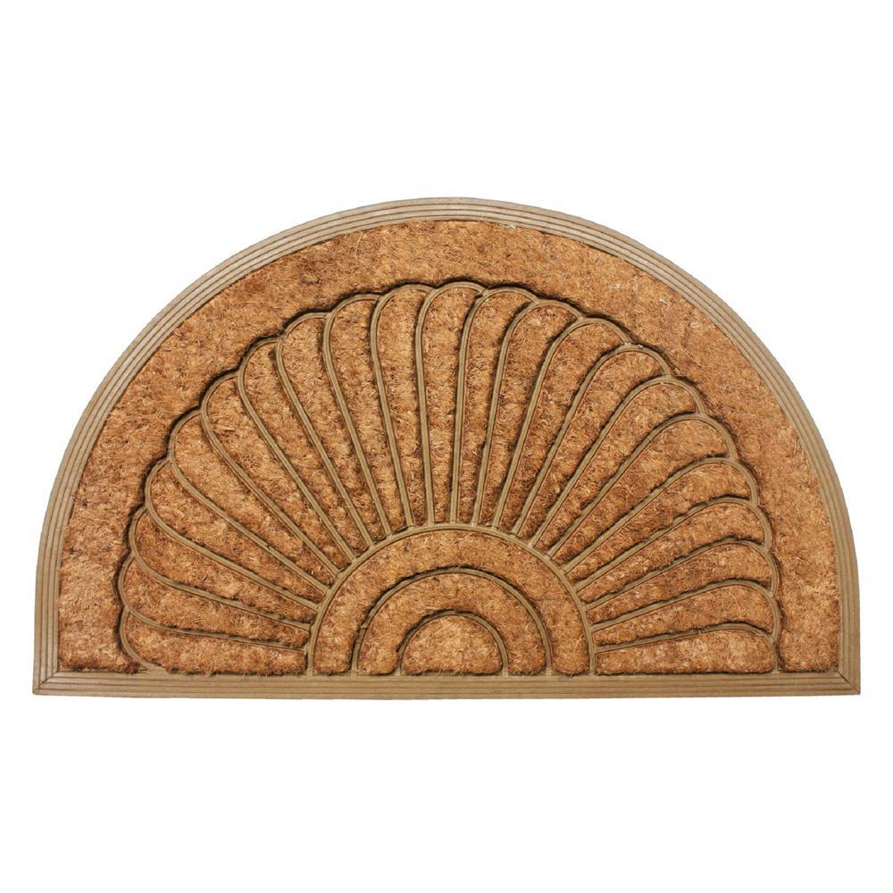 Sunburst 24 inch x 36 inch Coir Rubber Back Outdoor Doormat by
