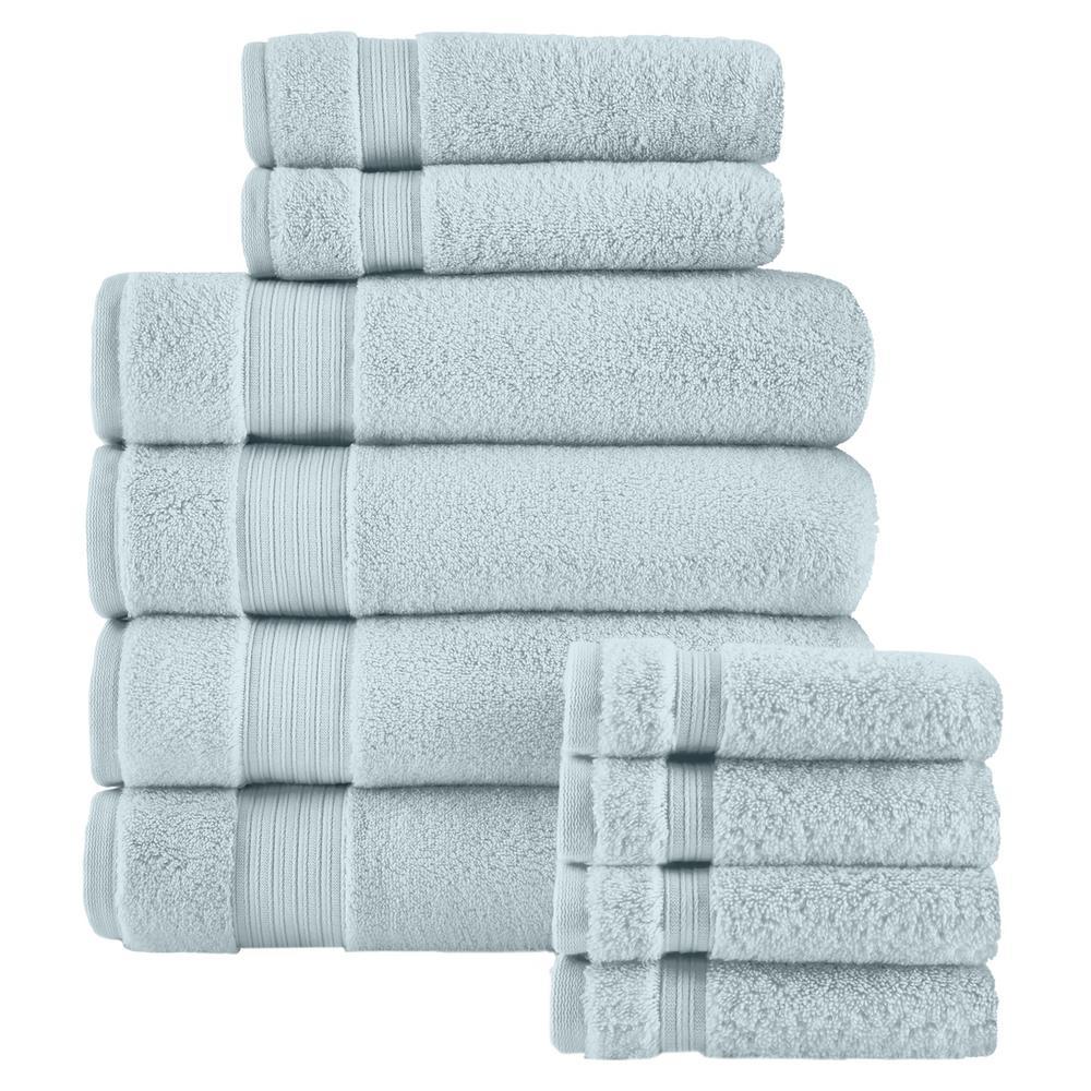 Egyptian Cotton 10-Piece Towel Set in Raindrop