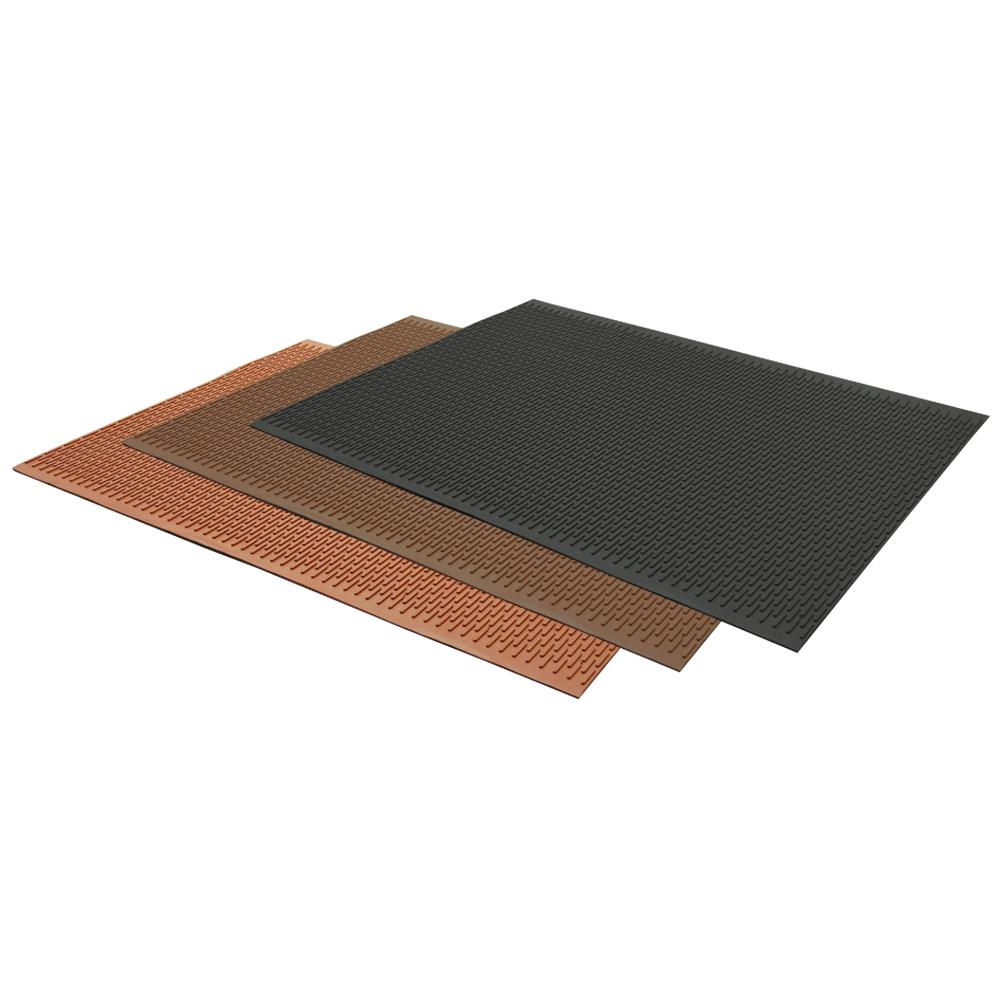 Rubber Cal Safe Grip Slip Resistant Traction Mats Brown 34