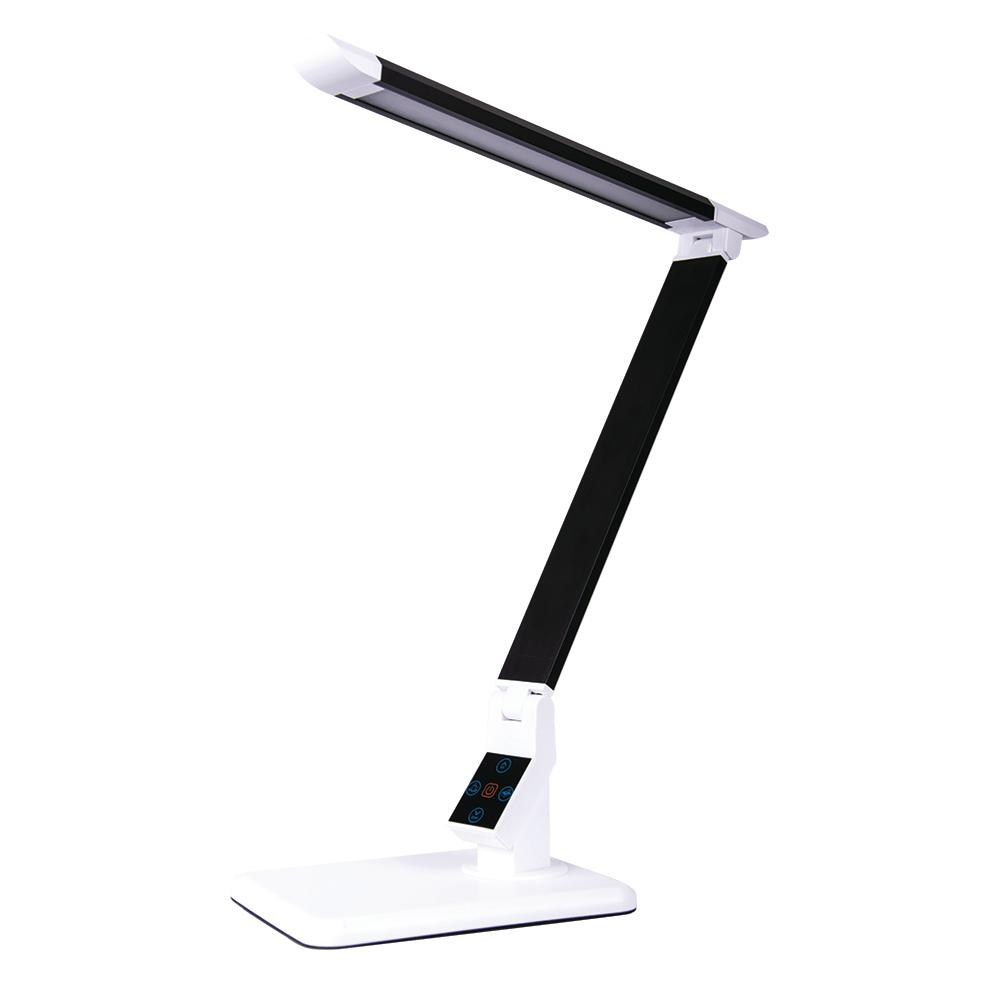 17 in. Black LED Desk Lamp with Touch Panel for Power,