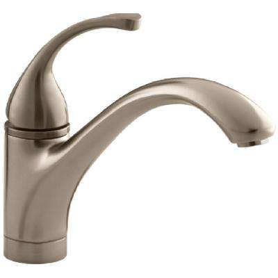 Forte Single-Handle Standard Kitchen Faucet with Lever Handle in Vibrant Brushed Bronze