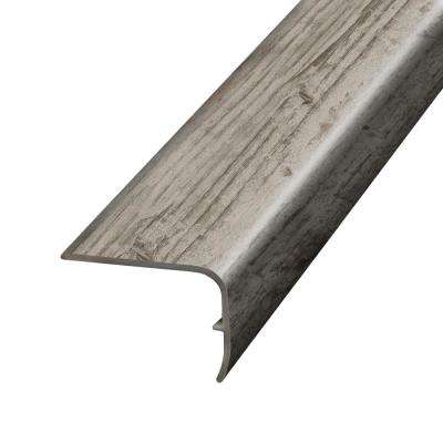 Antiquated Restored Wood Warm Grey 1.32 in. Thick x 1.88 in. Wide x 78.7 in. Length Vinyl Stairnose Molding