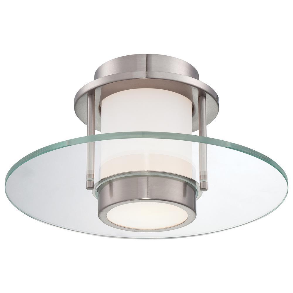 1-Light Brushed Nickel Flushmount