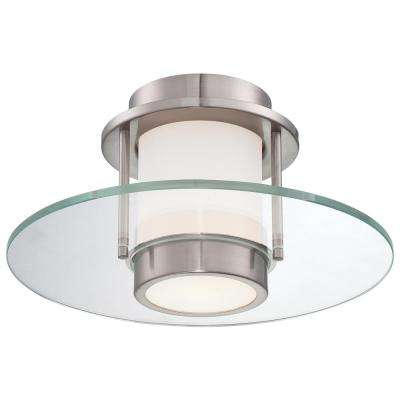 1-Light Brushed Nickel Flushmount