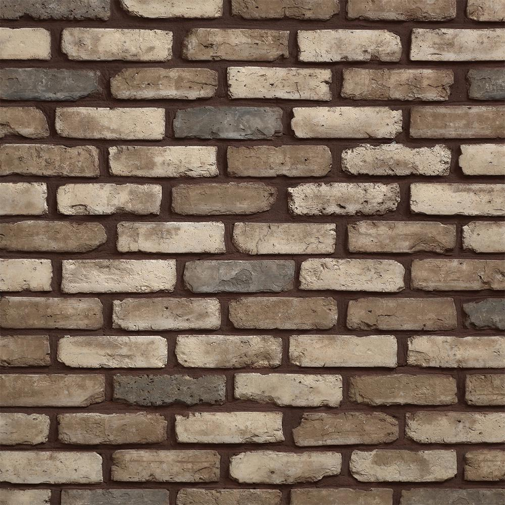 Koni Brick Old Chicago Cafe 8.20 in. x 2.50 in. Thin Brick 10.76 sq. ft. Flats Manufactured Stone Siding