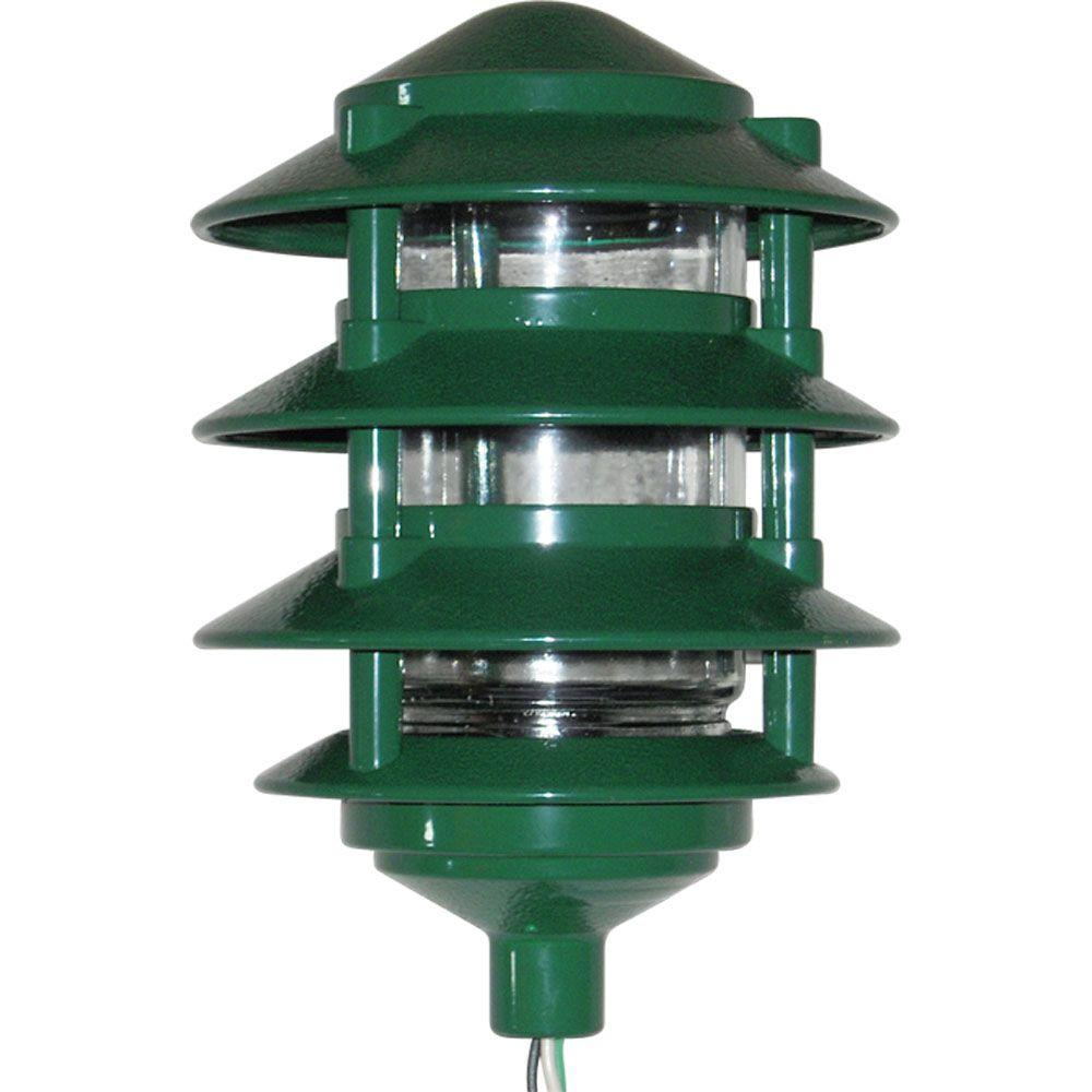 Greenfield 4 Tier Path Light - Green-PL4TG - The Home Depot