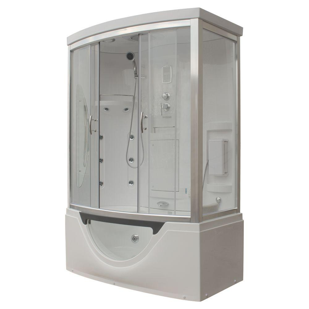 Steam Planet Hudson 59 in x 33 in x 88 in Steam Shower Enclosure