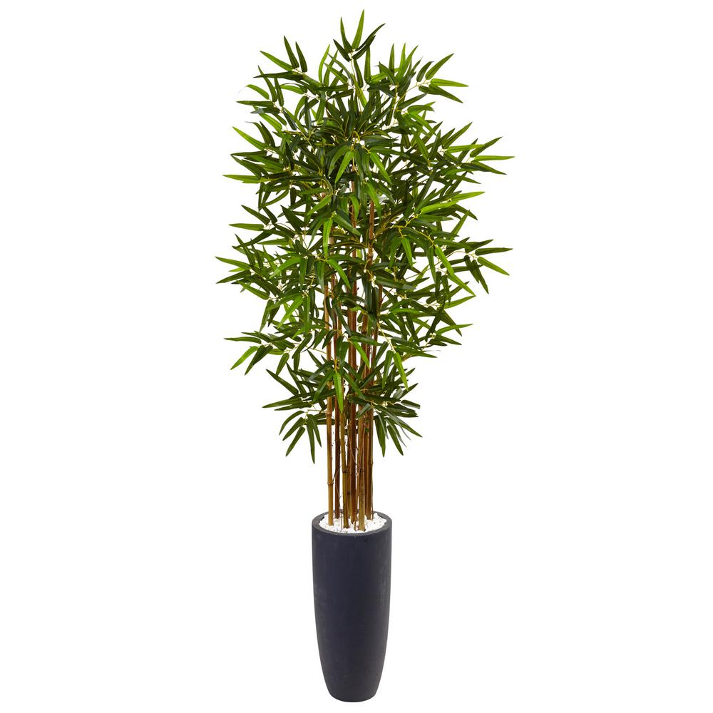 Nearly natural indoor bamboo artificial tree in gray