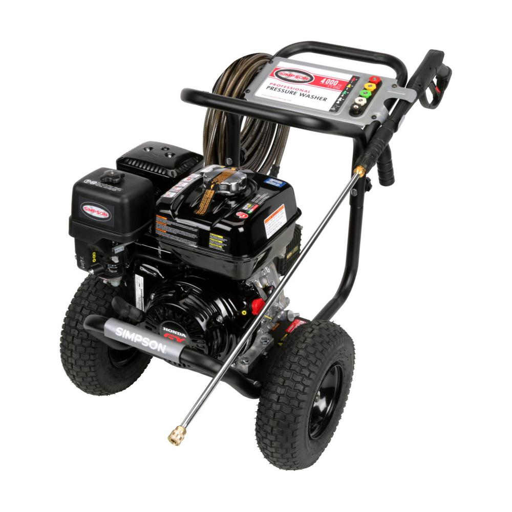 home depot pressure washers powershot 4000 psi at 3 3 gpm gas pressure washer 28665