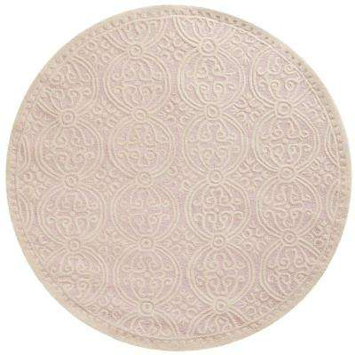8 Round Pink Wool Area Rugs The Home Depot