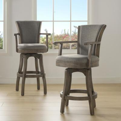 Williams 26 Swivel Counter Height Bar Stool Heathered Grey