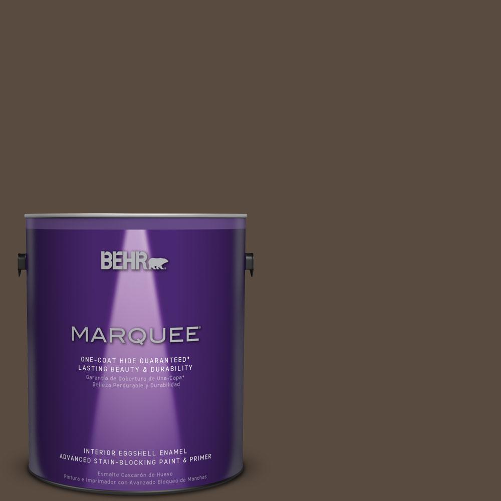 1 gal. #HDC-FL15-05 Warm Pumpernickel Eggshell Enamel Interior Paint