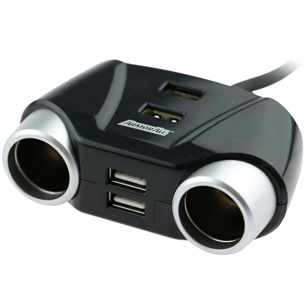Armor All Multi Port Car Plug (2 D/C and 4 USB) Use this PowerPort to charge or supplement your iPod, cellular phone, PDA and many other devices simultaneously. With the 6 Port power station you can charge up to multiple devices through a single 12-Volt connection. Includes a single port adapter plug to start the charging.