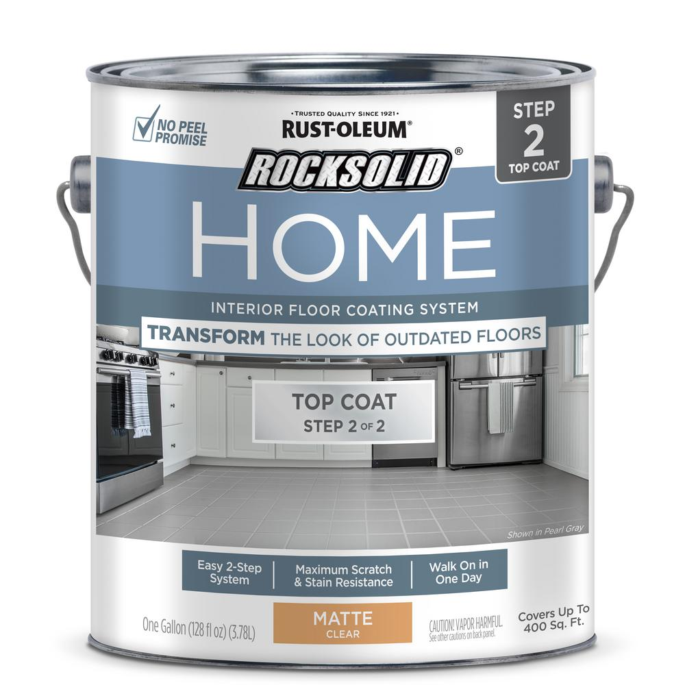 RustOleumRockSolid Rust-Oleum RockSolid Home 1 gal. Matte Clear Interior Floor Topcoat